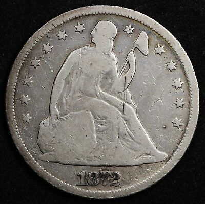 1872 Seated Liberty Dollar.  V.G.  124622