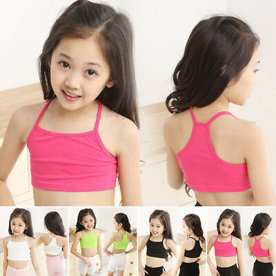 Cute Summer Kid Children Girl Tank Tops Vest Blouse Casual Camisole Crop Top Bra