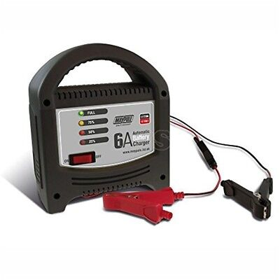 Maypole Mp7106 Battery Charger 6a LED Automatic 12v For Motorbikes Cars And -