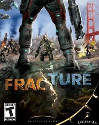 LucasArts Fracture PS3 VIDEO GAME 56387 online multiplayer shooter 13+ DISC ONLY