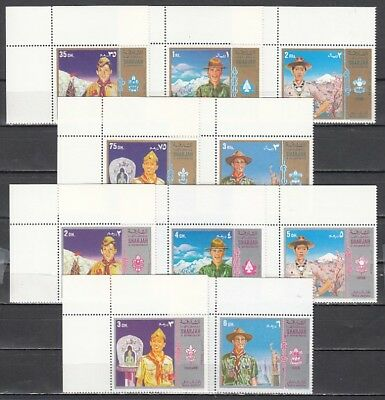 Sharjah, Mi cat. 927-936 A. American & Asian Scouts issue.