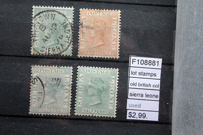 Lot Stamps Old British Colonies Sierra Leone Used (F108881)