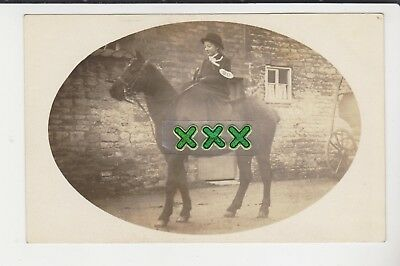 Hinson Stamford Postcard - Lady On A Horse - No 90.
