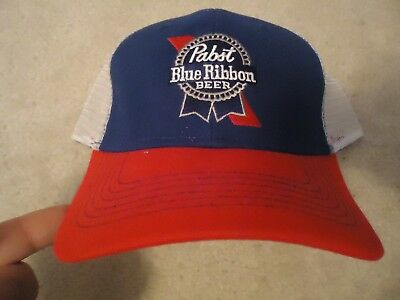 Pabst Blue Ribbon Beer PBR Baseball Hat Cap One Size Fits All