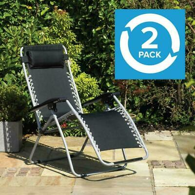 Wido GRAVITY CHAIRS RECLINING SUN LOUNGERS OUTDOOR GARDEN PATIO