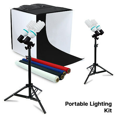 "Lusana Studio 24"" Photo Studio Table Top Photo Box Light Stand Photography Kit"
