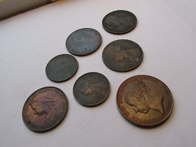 7 victorian coins in quite good condition  job lot