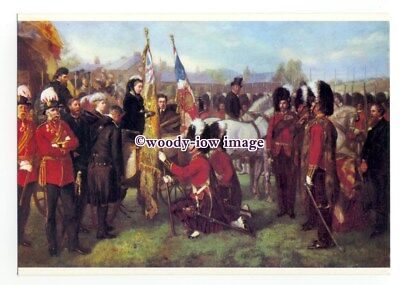 r2180 - Queen Victoria presents the Colours to Highlanders on I.O.W. - postcard