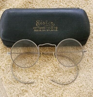 62a59bbfa5ca Antique BiFocal Wire Rim Spectacle Lenon type Reading Glasses heavy silver  color