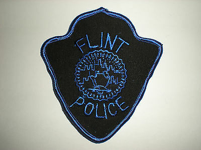Flint, Michigan Police Department Patch - Blue
