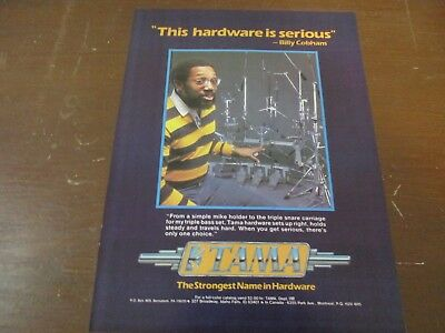 Tama Drum Hardware - Billy Cobham  1980's Magazine Print Ad