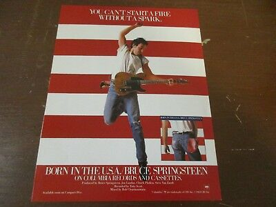 Bruce Springsteen - Born In The USA 1980's Magazine Print Ad