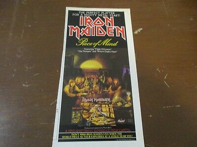 Iron Maiden - Piece Of Mind 1980's Magazine Print Ad