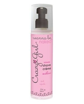 Crazy Girl - Wanna Be Naked - Intimate Shave Creme - 8oz Pink Cupcake Cream