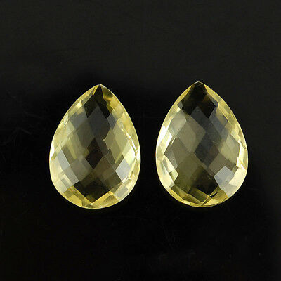 VVS 2 Pcs ~ 18mm/13mm Pair AAA Super Quality Natural Citrine Checkerboard Cut