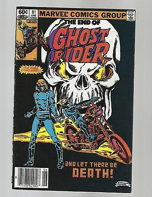 Ghost Rider #81 Death Of Ghost Rider