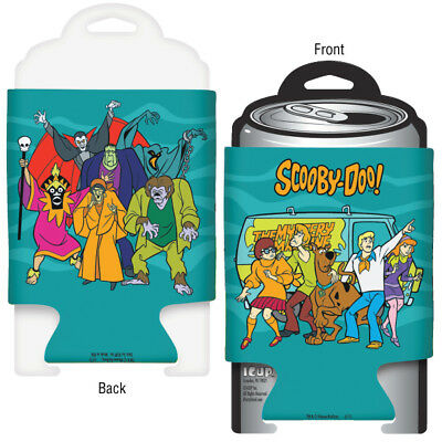 Scooby-Doo! Cast and Monsters Beer Huggie Koozie Can Cooler 2-Sided NEW UNUSED
