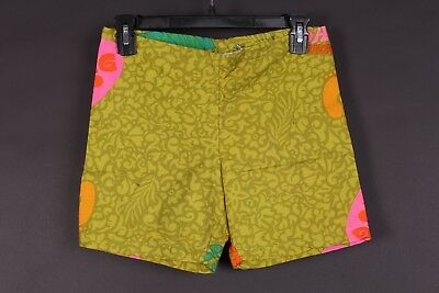 Vtg 60S Cotton Hawaiian Tiki Surf Board Shorts Usa Size Waist 28