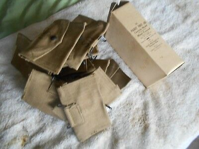 WW2 US mark GI 1944 dated first aid pouch w carlisle bandage mint NOS condition