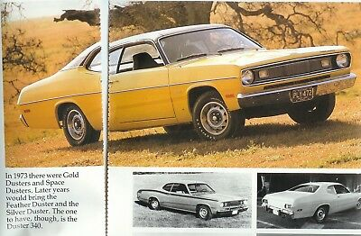 1970 1971 1972 1973 1974 1975 PLYMOUTH DUSTER 340 Color Article DEMON DART