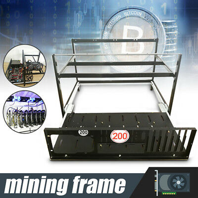 6 GPU Bitcoin Coin Open Air Mining Miner Rig Frame Case Holder Ethereum ETH BTC