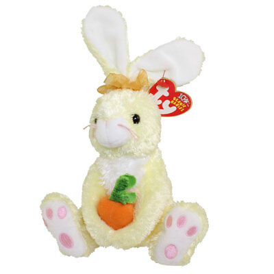 TY Beanie Baby - NIBBLIES the Yellow Bunny (6 inch) - MWMTs Stuffed Animal Toy