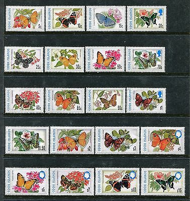 Cook Island 1215-1222H, MNH, Insects  Butterflies 1997-1998. x25065