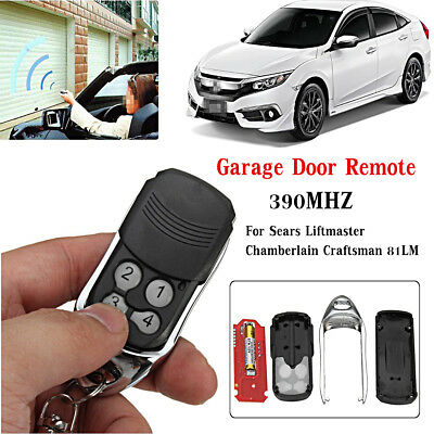 Garage Door Gate Remote 390MHz For Sears Liftmaster Chamberlain Craftsman 81LM