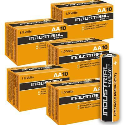 50 Duracell Industrial AA Alkaline Batteries Replaces Procell MN1500 1.5V LR6