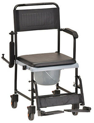 Nova Drop-Arm Transport Chair Commode Removable Swing-Away Footrest 250 LBS NEW