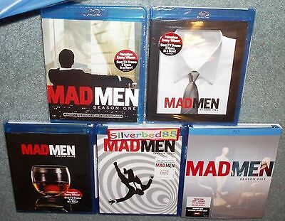 MAD MEN Season 1 2 3 4 5 Seasons One Two Three Four Five Blu Ray 15-Disc Set NEW