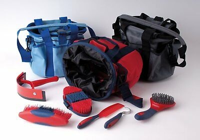Rhinegold Complete Soft Touch 6 pc Horse Pony Grooming Kit With Bag 3 colours