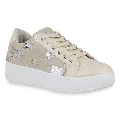 MUST-HAVE DAMEN SCHUHE 157465 SNEAKER CREME 38 STYLISCH