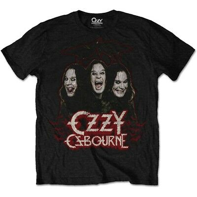 XL Black Men's Ozzy Osbourne Crows & Bars T-shirt - Mens Tshirt