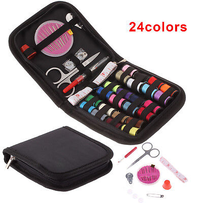 24 Thread Sewing Kit Portable Travel Home Sewing Kit Case Tapes Camping Holiday