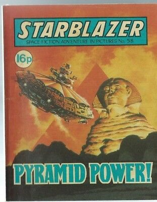 Pyramid Power,starblazer Space Fiction Adventure In Pictures,comic,no.58