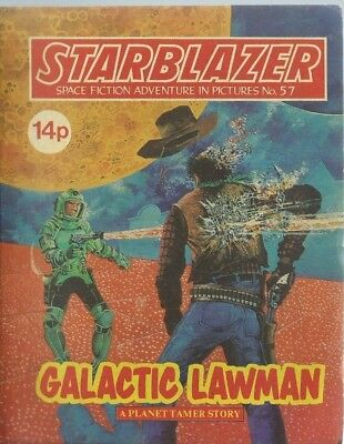 Galactic Lawman,starblazer Space Fiction Adventure In Pictures,comic,no.57