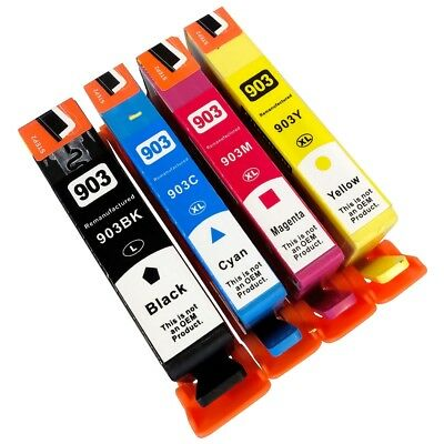 4 Ink Cartridges for HP 903XL Officejet Pro 6950 6960 6970 6975 All-in-One
