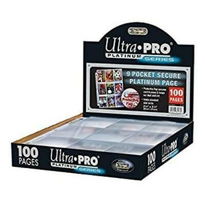 Trading card pages style and quantity Ultra pro Max pro and Budget 9 pocket