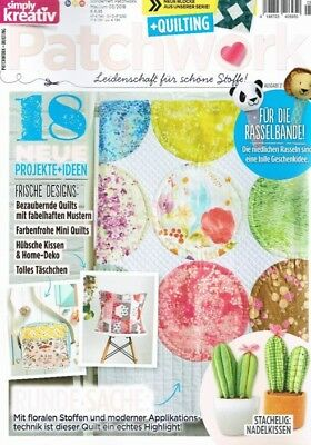 Simply 03/2018 PATCHWORK FRISCHE DESIGNS - Tolle fabelhafte farbenfrohe Muster u