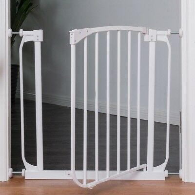Extending Extra Wide Metal Baby Child Safety Gate Wall Fit Stairs