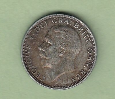 1936 Great Britain One Florin Silver Coin - EF