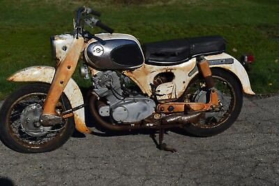 1965 HONDA DREAM CA77 305 H577 Parts / Basket Case Bike ...