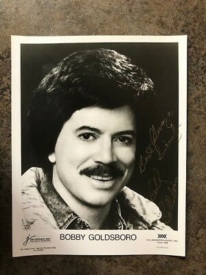 8x10 signed and inscribed photo a singer & entertainer BOBBY GOLDSBORO  vintage