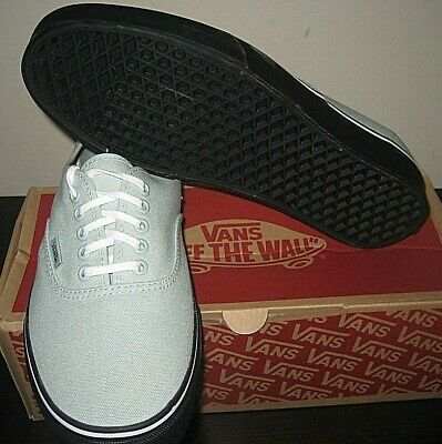 654e0342b1 Vans Authentic Mens Black Outsole Mint Green Canvas Skate shoes Size 8 NWT