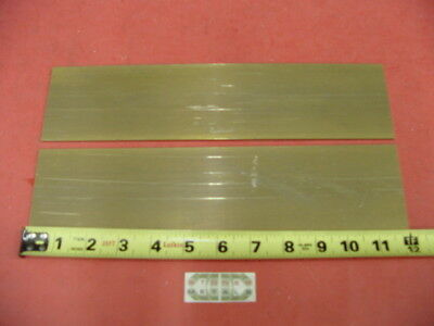 "2 Pieces 1/8"" x 3"" C360 BRASS FLAT BAR 12"" long Solid .125"" Plate Mill Stock H02"