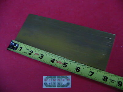 "1/8"" x 3"" C360 BRASS FLAT BAR 8"" long Solid .125"" Plate Mill Stock H02"