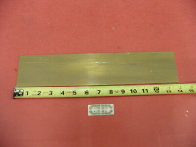 "1/8"" x 3"" C360 BRASS FLAT BAR 14"" long Solid .125"" Plate Mill Stock H02"