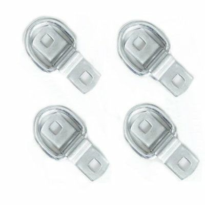 4 x 2 ton Lashing Dee Rings and Cleats zinc plated Tie Downs Hooks Trailer