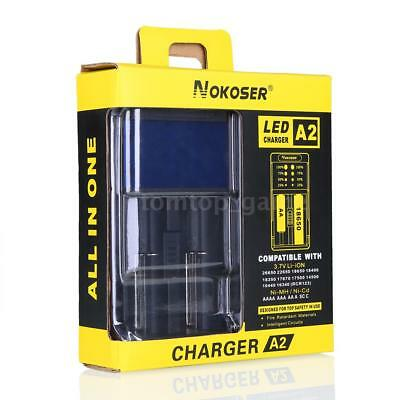 Universal NOKOSER A2 LCD For 18650 14500 16340 26650 Smart Battery Charger I8O9